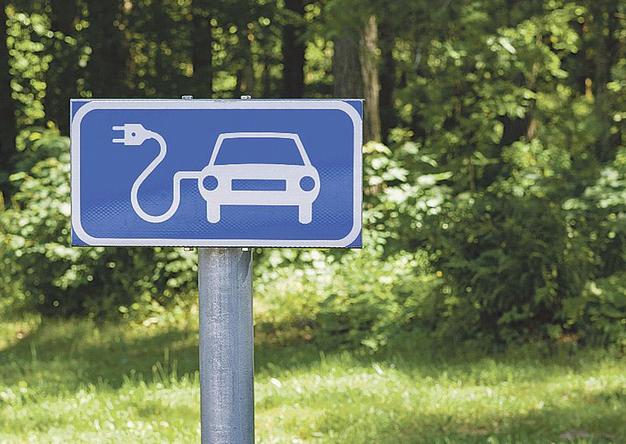 Verkehrsschild für Elektro-Ladestationen