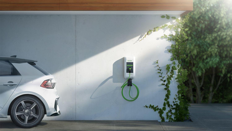 klimaneutrale Wallbox mit Elektroauto