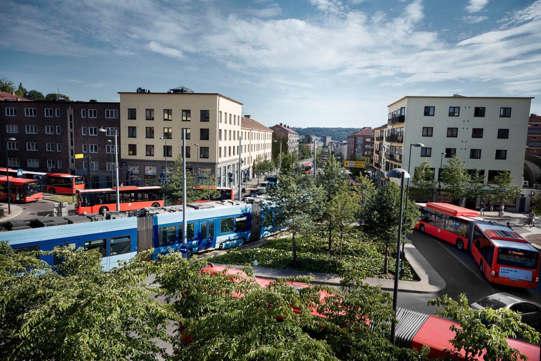 Straßenkreuzung in Oslo